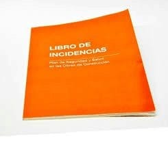 libro de incidencias del coordinador de seguridad y salud